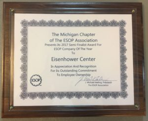 Eisenhower recognized by Michigan Chapter of ESOP Association